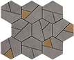 Atlas Concorde Boost +29536 Мозаика BOOST SMOKE MOSAICO HEX YELLOW, 25x28,5