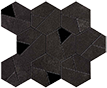Atlas Concorde Boost +29538 Мозаика BOOST TARMAC MOSAICO HEX BLACK, 25x28,5